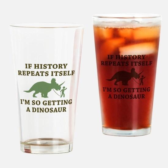 History Repeats Drinking Glass