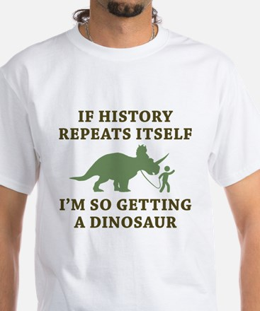 History Repeats White T-Shirt