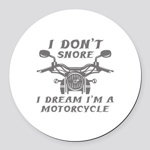 I Don't Snore Round Car Magnet
