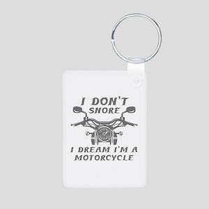 I Don't Snore Aluminum Photo Keychain