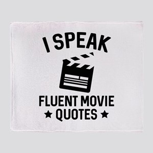 I Speak Fluent Movie Quotes Stadium Blanket