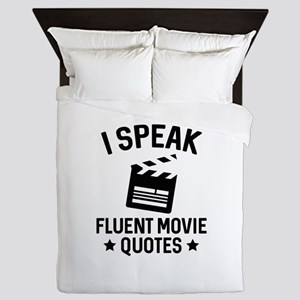 I Speak Fluent Movie Quotes Queen Duvet