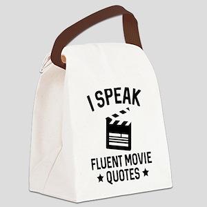 I Speak Fluent Movie Quotes Canvas Lunch Bag