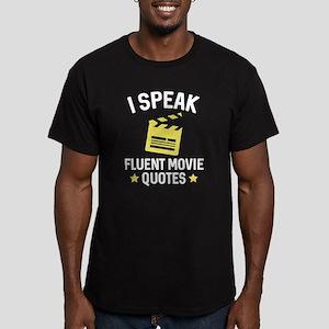 I Speak Fluent Movie Quotes Men's Fitted T-Shirt (