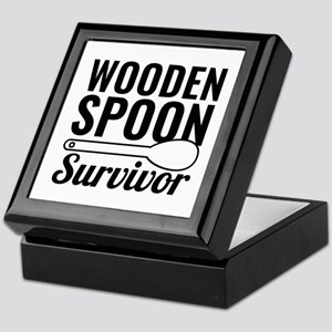 Wooden Spoon Survivor Keepsake Box