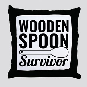 Wooden Spoon Survivor Throw Pillow