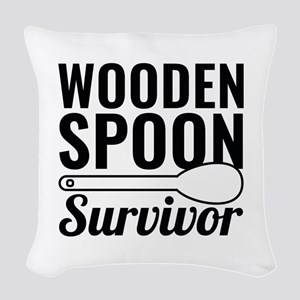 Wooden Spoon Survivor Woven Throw Pillow