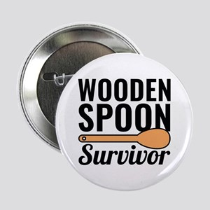 "Wooden Spoon Survivor 2.25"" Button"
