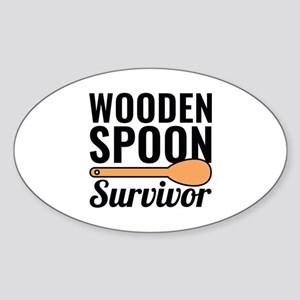 Wooden Spoon Survivor Sticker (Oval)