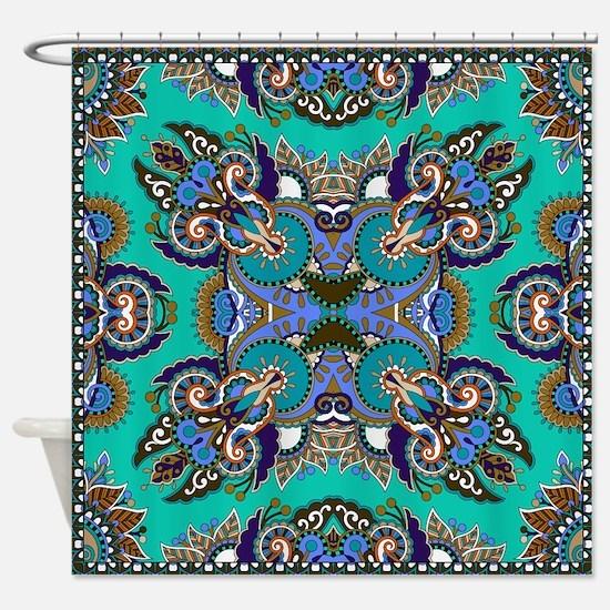 Framed Boho Pattern v. 6 Shower Curtain