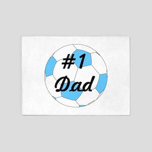 Number 1 Dad 5'x7'Area Rug