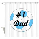 Number 1 Dad Shower Curtain