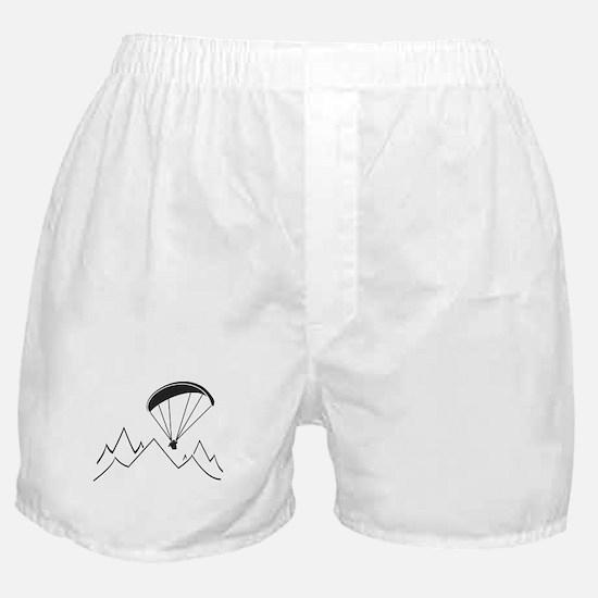 mountain paragliding Boxer Shorts
