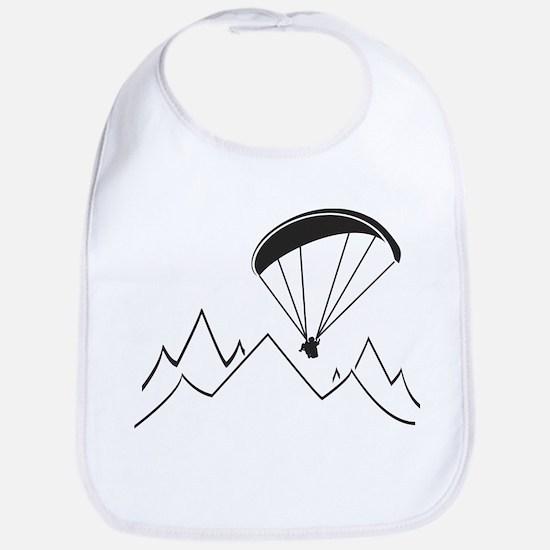 mountain paragliding Baby Bib