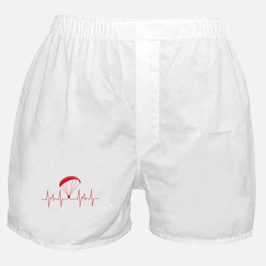 heartbeat paragliding Boxer Shorts
