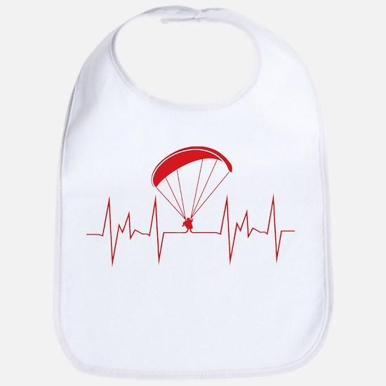 heartbeat paragliding Baby Bib