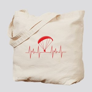 heartbeat paragliding Tote Bag
