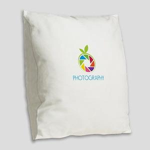 photography Burlap Throw Pillow