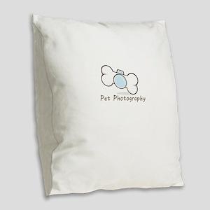 Pet photography Burlap Throw Pillow