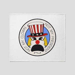 Not My Clown Throw Blanket