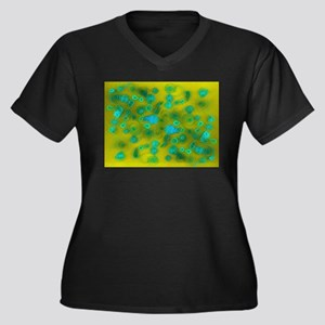 Green Quilling Plus Size T-Shirt