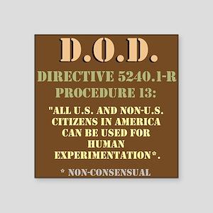 "DOD Directive Square Sticker 3"" x 3"""