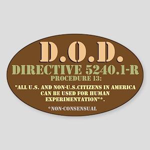 DOD Directive Sticker (Oval)