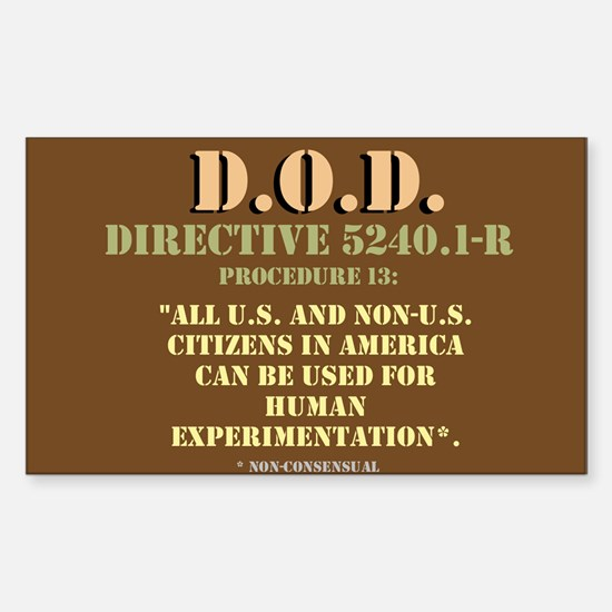 DOD Directive Sticker (Rectangle)