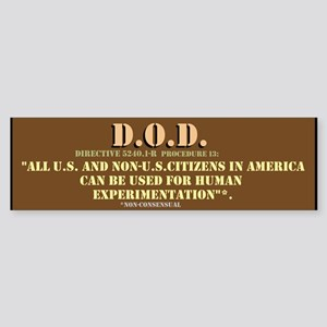 DOD Directive Sticker (Bumper)