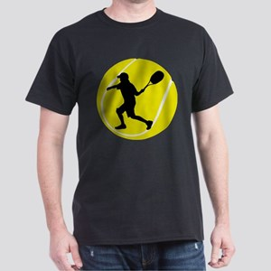 Silhouette Tennis Player Gif T-Shirt