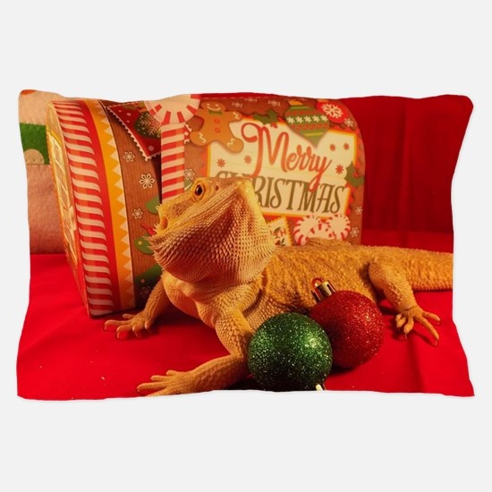 Unique Bearded dragon Pillow Case