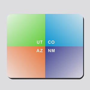 Four Corners - 4 Corners Mousepad
