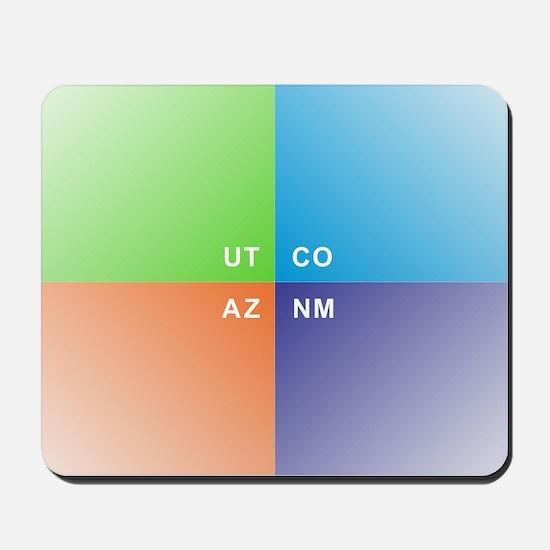 Four Corners - 4 Corners Mousepad