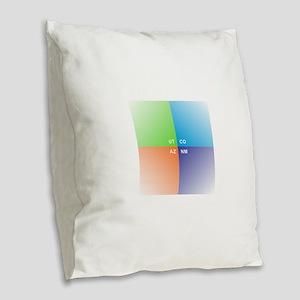 Four Corners - 4 Corners Burlap Throw Pillow