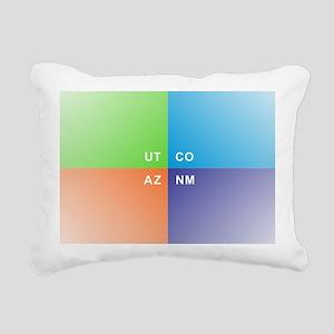 Four Corners - 4 Corners Rectangular Canvas Pillow