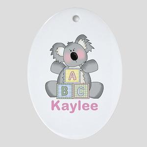 Kaylee's Sweet Koala Oval Ornament