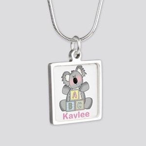 Kaylee's Sweet Koala Silver Square Necklace