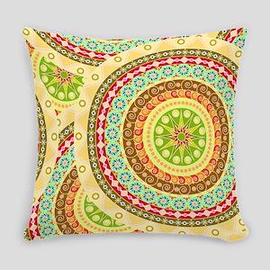 Boho Mandela Pattern v. 9 Everyday Pillow