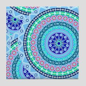 Boho Mandela Pattern v. 3 Tile Coaster
