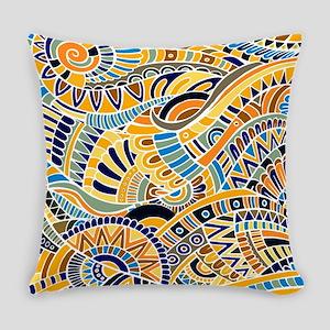 Boho Fantasy Pattern 3 v. 14 Everyday Pillow