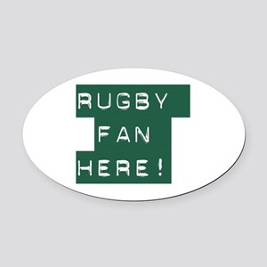 Rugby Fan Oval Car Magnet