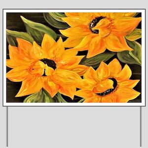 Sunflower Trio Yard Sign