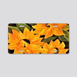 Sunflower Trio Aluminum License Plate