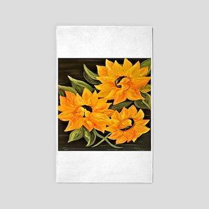 Sunflower Trio Area Rug