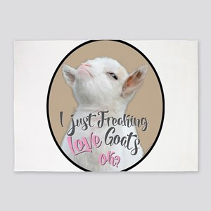 GOAT | Just Freaking LOVE Goats - B 5'x7'Area Rug