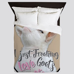 GOAT | Just Freaking LOVE Goats - Baby Queen Duvet