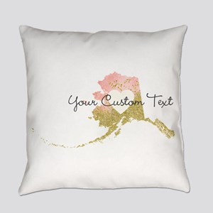 Personalized Alaska State Everyday Pillow