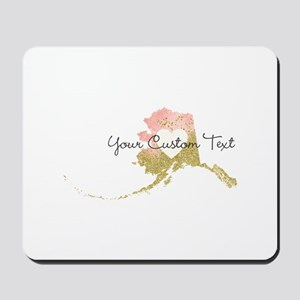 Personalized Alaska State Mousepad