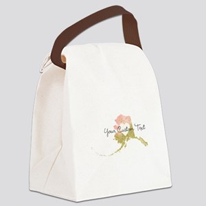 Personalized Alaska State Canvas Lunch Bag