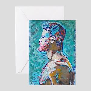 Aqua Man By Riccoboni Greeting Cards